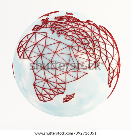 globe on white background - stock photo