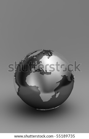 Globe showing Europe and Africa over gradient background