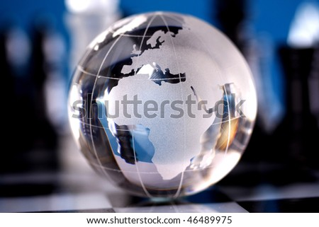 Globe showing the world - stock photo