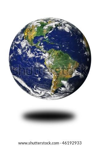 Globe (World map courtesy of NASA) - stock photo