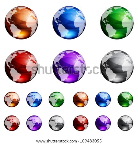 Globes. Raster version, vector file id: 108605498 - stock photo