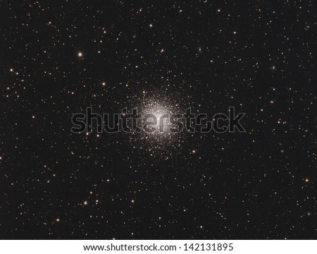 Globular Cluster Messier 92 - A globular cluster of stars about 27,000 light years away in the constellation Hercules - stock photo