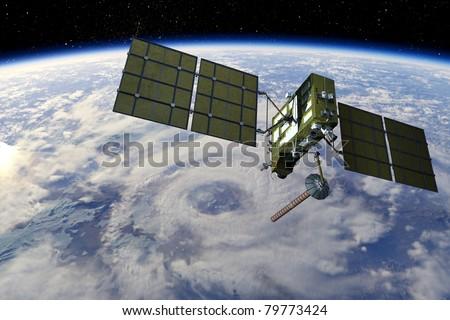 GLONASS satellite - stock photo