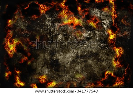 gloomy abstract background with a fiery pattern