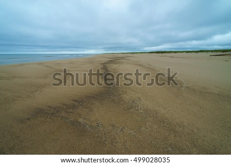Gloomy north coast of Sakhalin Island, Russia.
