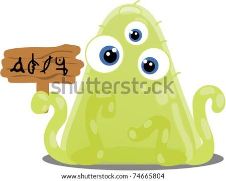Gloop alien has something to say... - stock photo