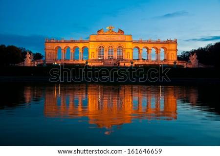 Gloriette at Schonbrunn in Vienna, Austria  - stock photo
