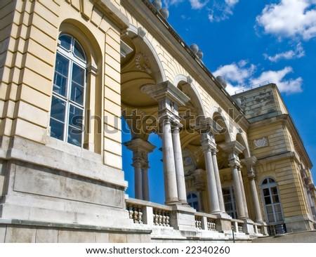 Gloriette building at Schonbrunn Palace, Vienna - stock photo