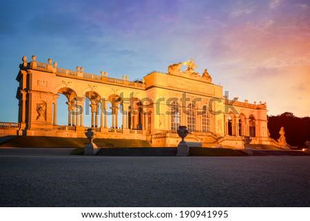 Gloriette in Schoenbrunn Palace Gardens, Vienna, Austria - stock photo