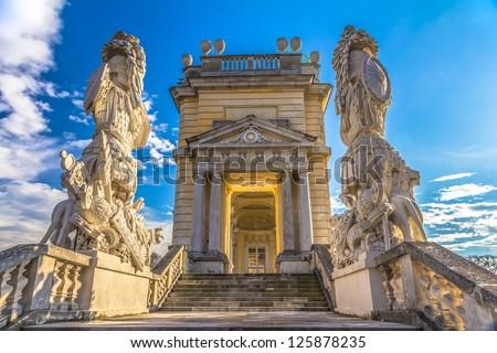 Gloriette structure in Schonbrunn Palace in Vienna, Austria - stock photo