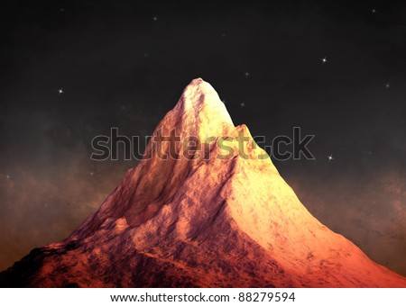 glorious mount image - stock photo