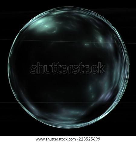 glossy ball - stock photo