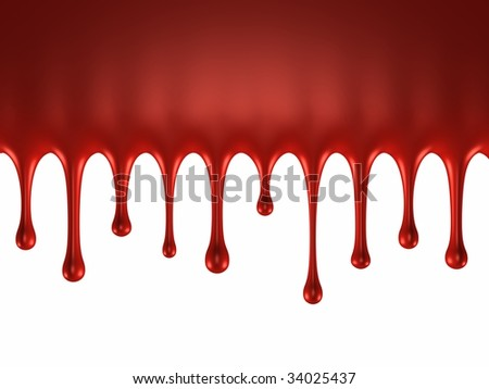 Glossy blood splash - stock photo