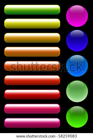 Glossy button - stock photo