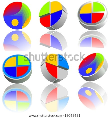 Glossy buttons. Elements for web design or business cards. For the vector version see my portfolio please.