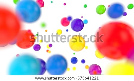 Glossy colored balls background 3D Illustration