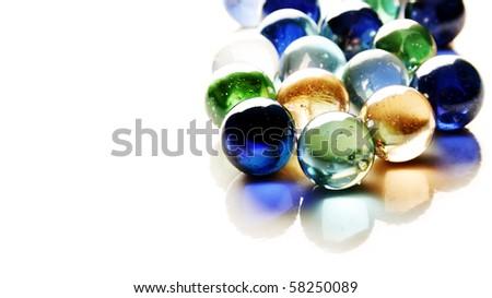Glossy crystal balls - stock photo