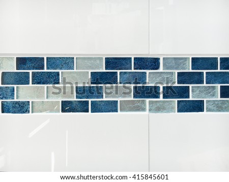 Glossy decorative bathroom tiles as a background - stock photo