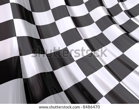 Glossy Flag of End Race