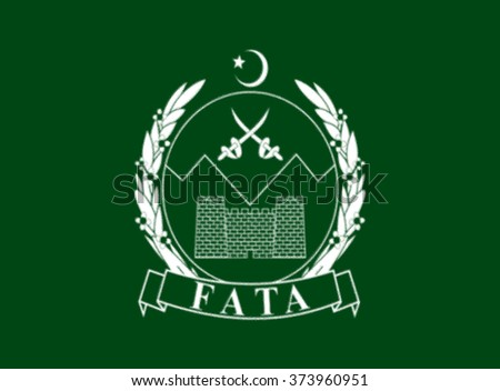 Glossy glass flag of Federally Administered Tribal Areas FATA is a semi-autonomous tribal region in northwestern Pakistan - stock photo