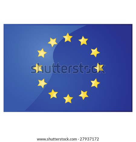 Glossy jpeg illustration of the flag of the European Union