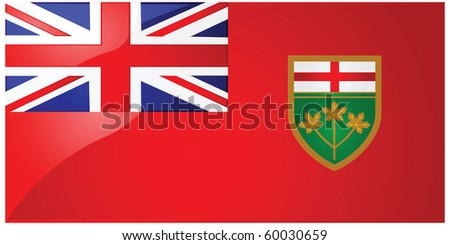 Glossy jpeg illustration of the flag of the province of Ontario, Canada - stock photo