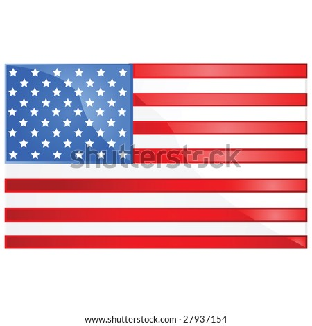 Glossy jpeg illustration of the flag of the United States of America - stock photo