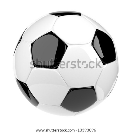 Glossy soccer ball - stock photo