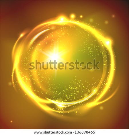 Glossy Sphere. Abstract Background  Raster copy of vector. - stock photo