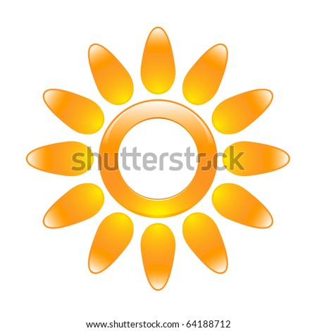 Glossy sun icon in the form of a ring. Raster version of vector illustration (id: 60408013) - stock photo