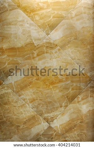 Glossy tiles from light beige marble , background, texture - stock photo