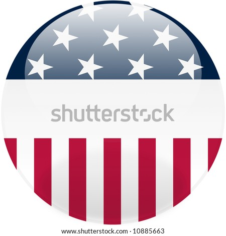Glossy United States round button - stock photo