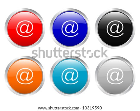 Glossy web buttons (clipping path)