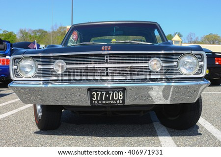 GLOUCESTER, VA - April 16, 2016: A 1968 Dodge Dart GTS at the Daffodil car show,
