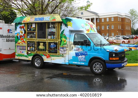 GLOUCESTER, VA - April 2, 2016: A mobile Kona Ice distributor at the 