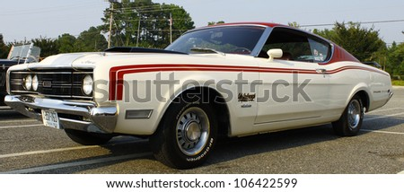 GLOUCESTER, VA- JUNE 29:A 69 Cyclone at the 13th Annual 2012 MPCC(middle peninsula car club)meeting at the Main St shopping center in Gloucester, Virginia on June 29, 2012. - stock photo