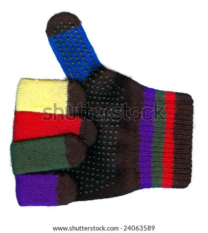 Glove gives Thumbs up - stock photo
