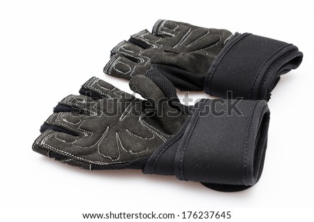 Glove on white background