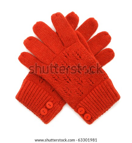 Gloves isolated on white background - stock photo