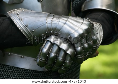 Gloves of a knight - stock photo