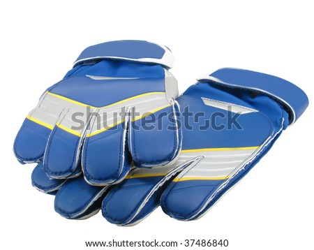 Gloves of the goalkeeper