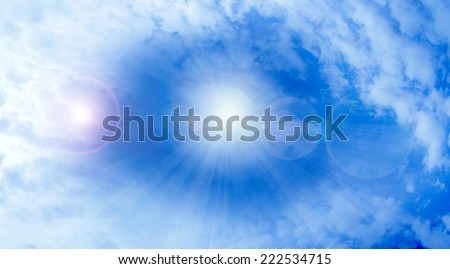 glow clouds on the dark sky as beautiful celestial landscape - stock photo