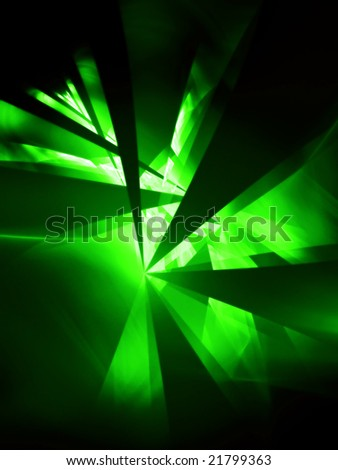 Glow Green Party - 3D fractal Illustration - stock photo