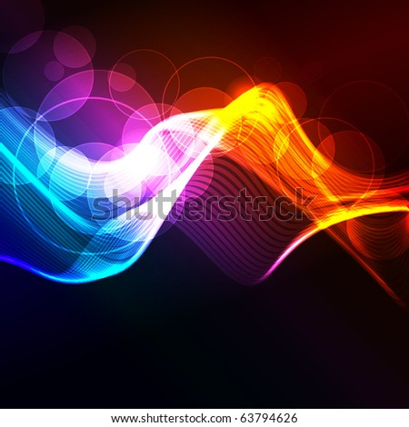 glowing abstract background, raster illustration