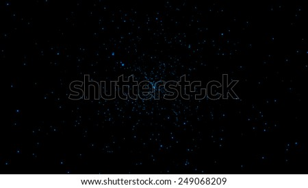 Glowing Blue Embers or Starburst, Abstract Design