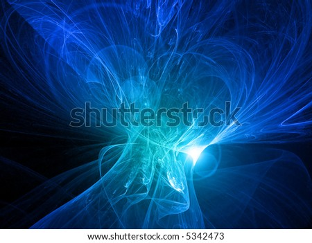 Glowing blue energy - stock photo