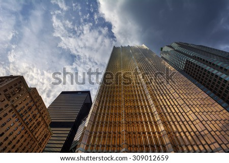 Glowing building - stock photo