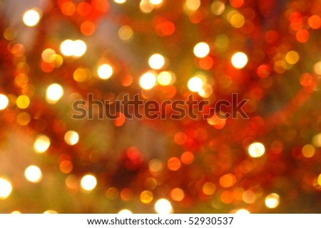 glowing Christmas lights - stock photo