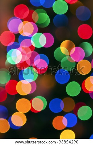 Glowing Christmas lights background in abstract image. - stock photo
