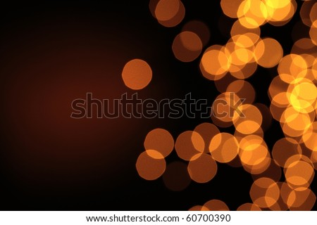 Glowing Christmas lights for use as background - stock photo